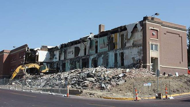 """The """"old college"""" at 1001 N, 2nd Ave. nears its demolition. The building last housed Dodge City USD 443 administration and had been the site of Dodge City Community College from 1957-1970. SUBMITTED PHOTO"""