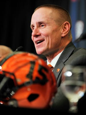 Gary Andersen was introduced as Oregon State's new head football coach on Friday, Dec. 12.