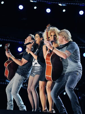 Little Big Town performs during the 2012 CMA Music Festival at LP Field June 9, 2012.