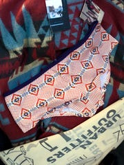 This Oct. 14, 2011, photo shows purchased items from Urban Outfitters' Navajo line in Tempe, Ariz.