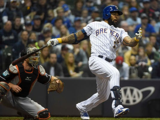 MLB: Miami Marlins at Milwaukee Brewers
