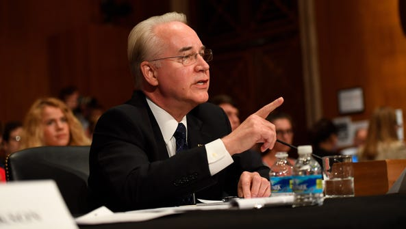 Rep. Tom Price appears before the Senate Health, Education,