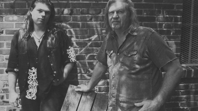 Billy Joe Shaver, right, with son Eddy, 1993.