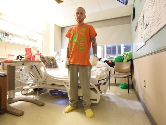 Danial Taylor in his hospital room at Doan Hall on