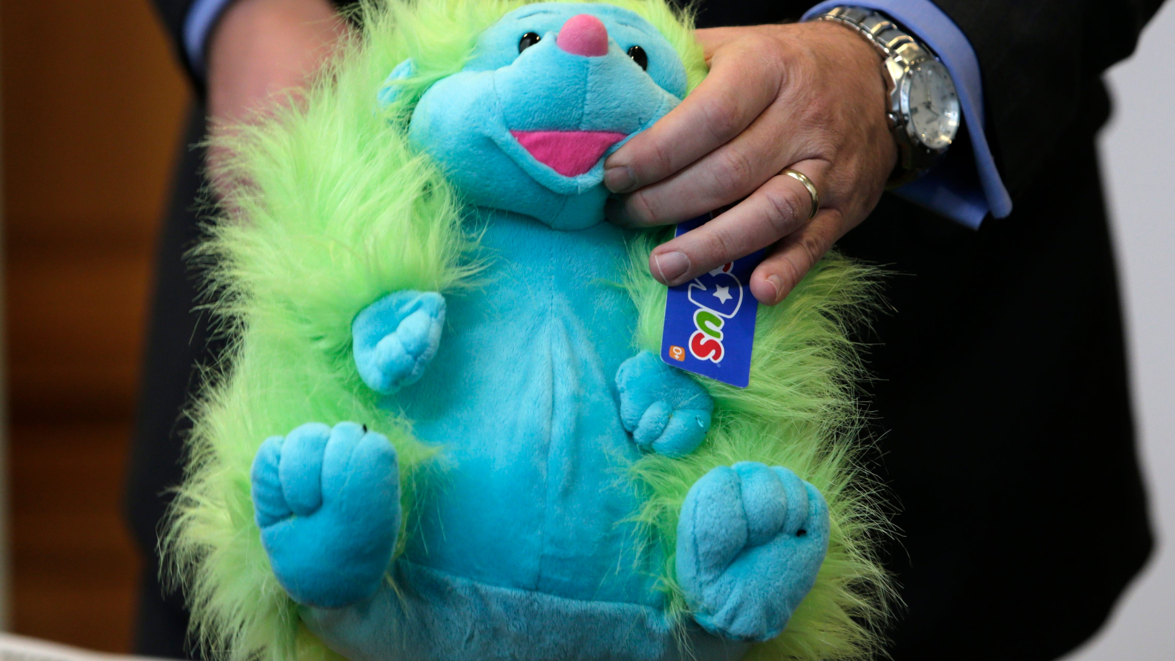 """JC TOYS CATERPILLAR BLUE BABY BOTTLE 4/"""" TALL DOLL NOT INCLUDED"""