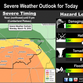Thunderstorms, hail and tornadoes possible early Monday evening across Middle Tennessee