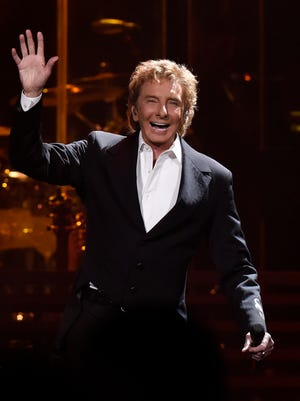 Barry Manilow performs Wednesday night at the Denny Sanford Premiere Center as part of his One Last Time! tour, April 6, 2016.