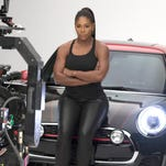 "Serena Williams appears in the ad campaign for the car company, Mini, titled, ""Defy Labels."" It will appear during the 2016 Super Bowl."