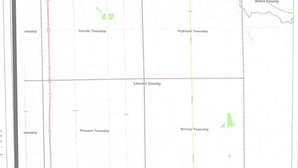 The land available for commercial wind turbines under