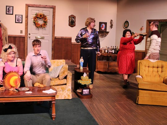 """The cast of """"Making God Laugh"""" at Old Creamery Theatre."""