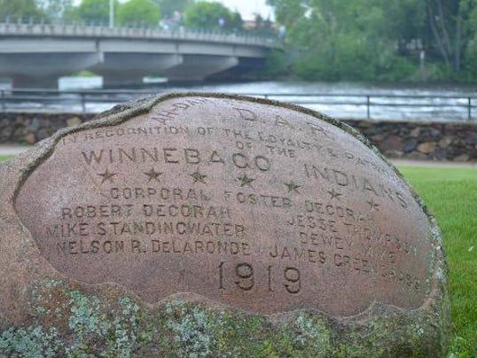Veterans Memorial Park boulder