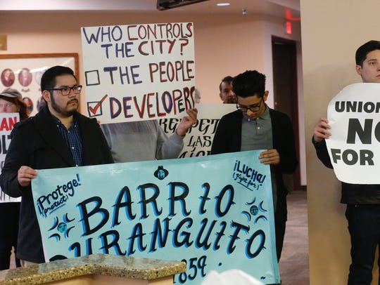 Supporters address mayor and city council on downtown