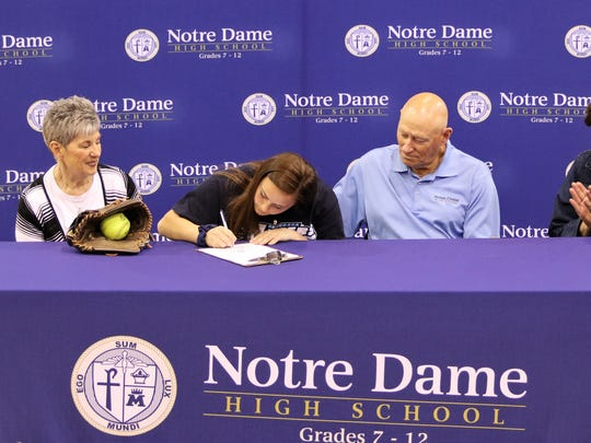 Notre Dame senior Izzy Milazzo signs to play softball