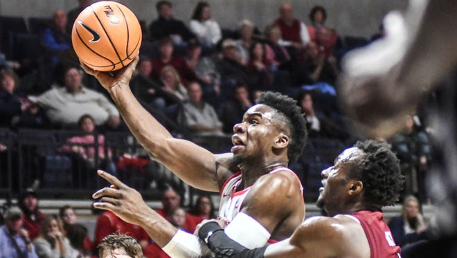Terence Davis (3) has fouled out twice in the past four games, including against South Carolina on Sunday night.