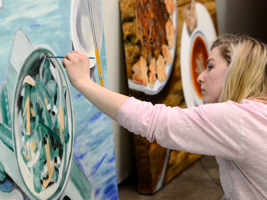 HACC students create art for Left Bank