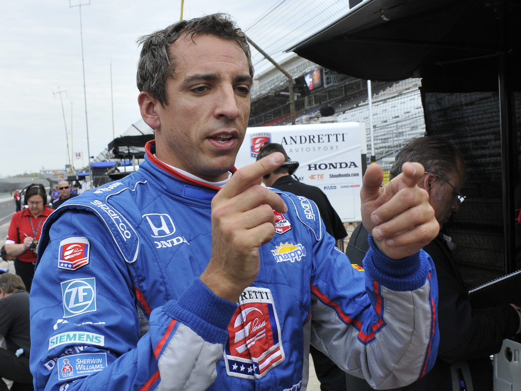 Justin Wilson (seen here in May at Indianapolis Motor Speedway) has been a leading safety advocate in the sport.