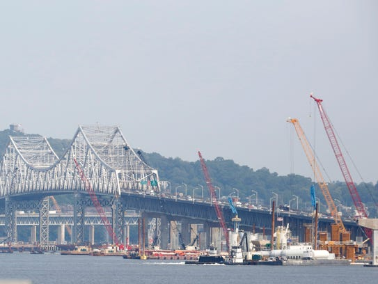 The current Tappan Zee Bridge is a truss construction,