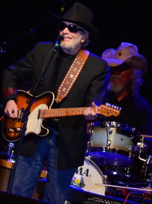 Merle Haggard, shown here at his sold-out concert last October with Willie Nelson at the Resch Center Theatre, was in classic form as he performed with The Strangers, his band since the 1960s.