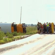 Waxahachie bus rollover accident