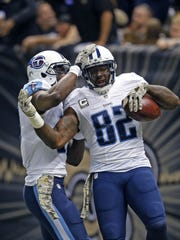 Titans tight end Delanie Walker is signed through the