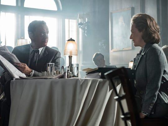 Ben Bradlee (Tom Hanks) and Katharine Graham (Meryl