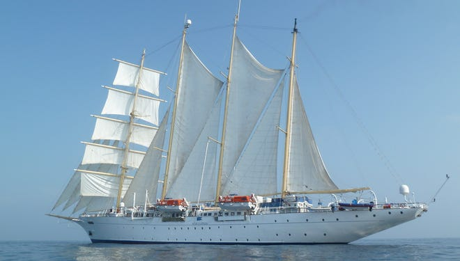 Once per sailing, Star Clippers provides guests with a tender to take shots of the ship under sail, conditions permitting.