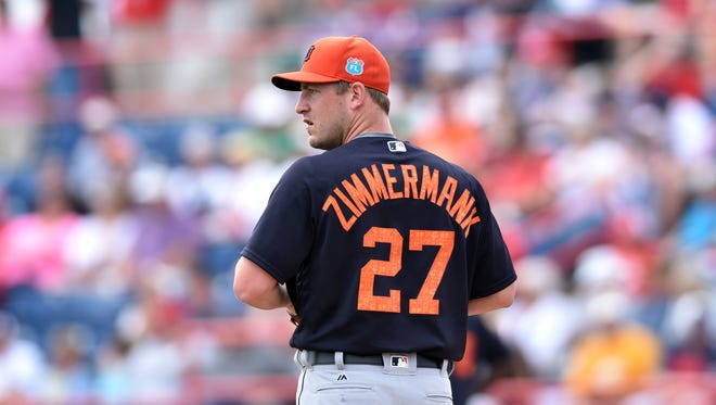 Detroit Tigers starting pitcher Jordan Zimmermann.