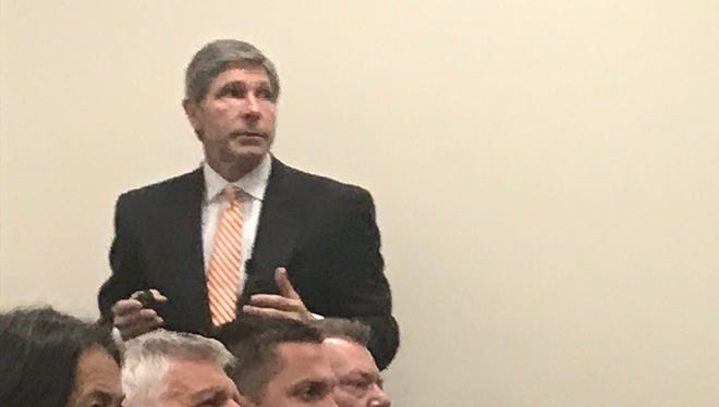 Newly named Economic and Community Development Commissioner Bob Rolfe spoke at Pellissippi State Community College Wednesday morning.