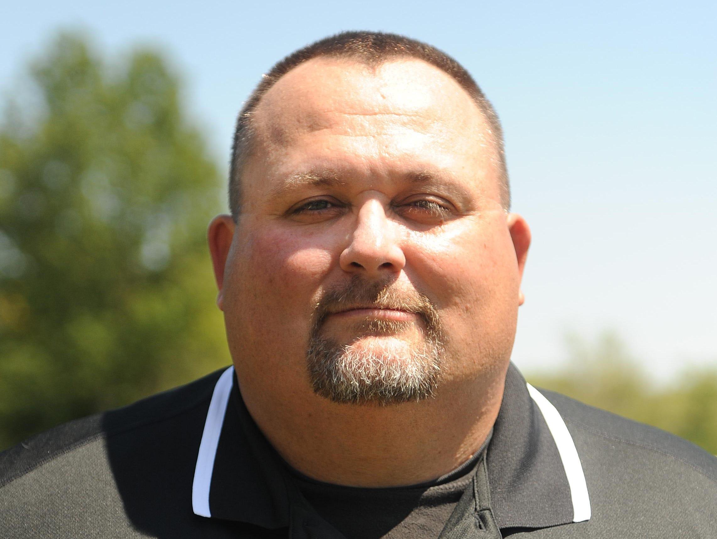 Lucas head football coach Scott Spitler