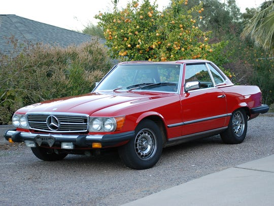 Charlie Lorance's 1985 Mercedes 380SL is powered by a 3.8-liter aluminum V-8 mated to a four-speed automatic transmission. The car is mechanically original.