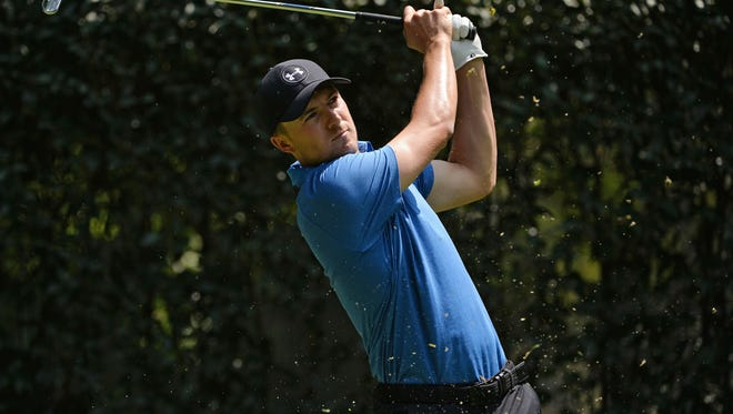 Jordan Spieth plays his shot from the third tee during the first round of the WGC - Mexico Championship golf tournament at Club de Golf Chapultepec.