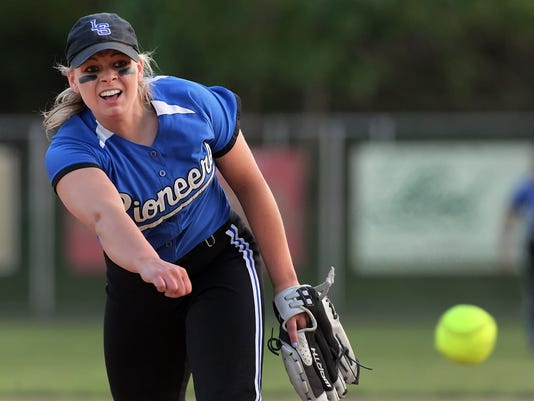 Lampeter-Strasburg's starting pitcher Jordan Weaver (9) fires one across the plate against Donegal during 3rd inning action at Garrett Park in Willow Street Monday May 4, 2015. Chris Knight - GametimePa.com