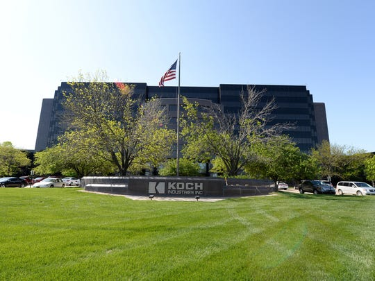 Koch Industries Inc., pictured on April 21, 2015, in Wichita, Kan., is the the second-largest private company in America.