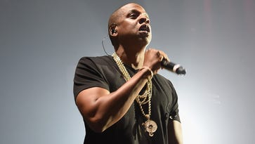Jay Z performs during the Puff Daddy and The Family Bad Boy Reunion Tour presented by Ciroc Vodka and Live Nation at Barclays Center in New York.
