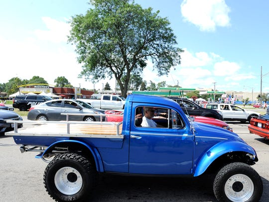 "This 1967 VW Bug is customized into a ""Baja Bug Truck."""