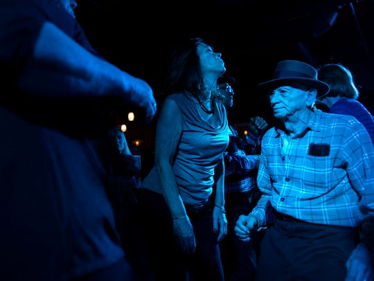 Andre D'Alessandro, 84, dances at the Mount Holleran