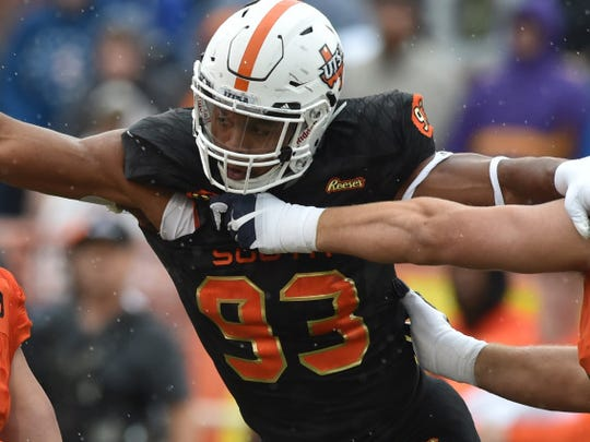 UT-San Antonio defensive end Marcus Davenport is expected to be a first-round pick.