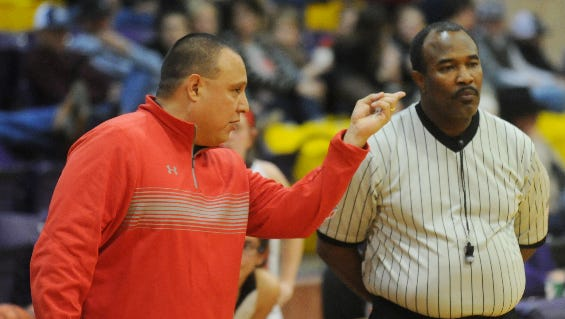 Aspermont coach Jerry Carreon, left, picked up his 100th career volleyball win over the weekend.