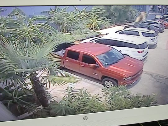 Surveillance footage shows the vehicle allegedly used