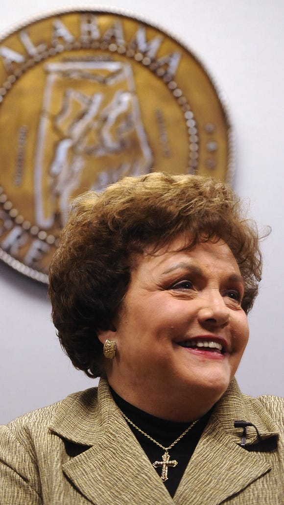 Lucy Baxley after being sworn in as President of the Public Service Commission on Wednesday November 5, 2008 in Montgomery, Ala. (Montgomery Advertiser, Mickey Welsh)