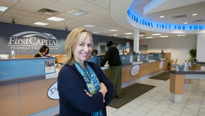 Sue DeStephano became president and CEO of First Capital Federal Credit Union in West Manchester Township on Jan. 1. She succeeds Dennis Flickinger, the credit union's long-time president and CEO, who retired.