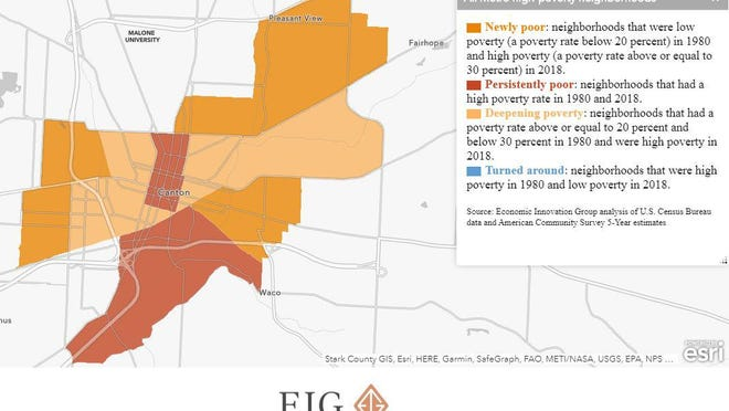 High poverty map by the Economic Innovation Group