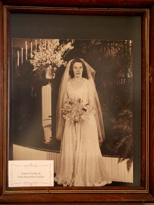 "This is one of the historic photos from Oaklnds Mansion's ""Wedding Dresses Through the Decades"" exhibit, on display in 2021 from Jan. 16 through March 27."