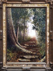 """""""Into the Clearing"""" by Alan Shuptrine, 2013, drybrush watercolor, is on display at the Tennessee State Museum."""