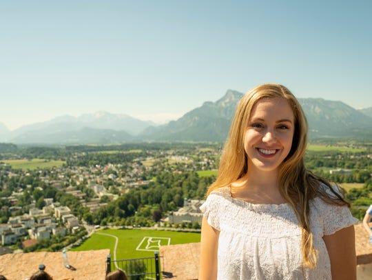 Christine Bjorkman atop the Hohensalzburg Fortress