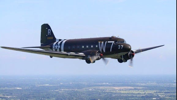 Whiskey 7, the C-47 that some hope will make a return flight to Normandy in June.