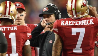 Jim Harbaugh has one more year remaining on his contract with the 49ers.