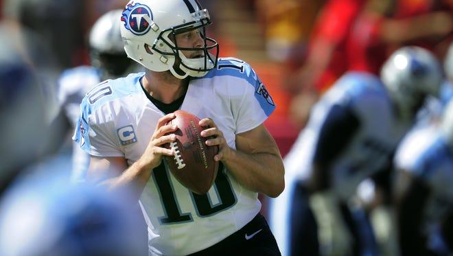 Titans quarterback Jake Locker.