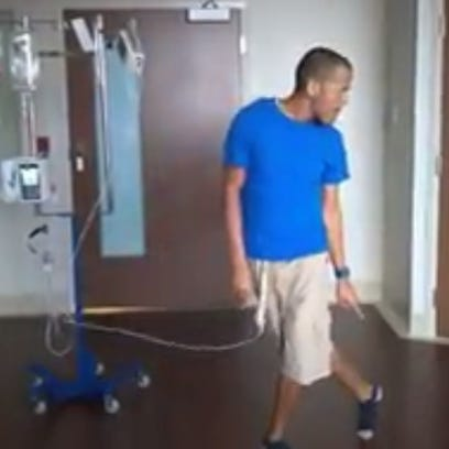 Cancer patient sends message by dancing to Michael Jackson during chemo