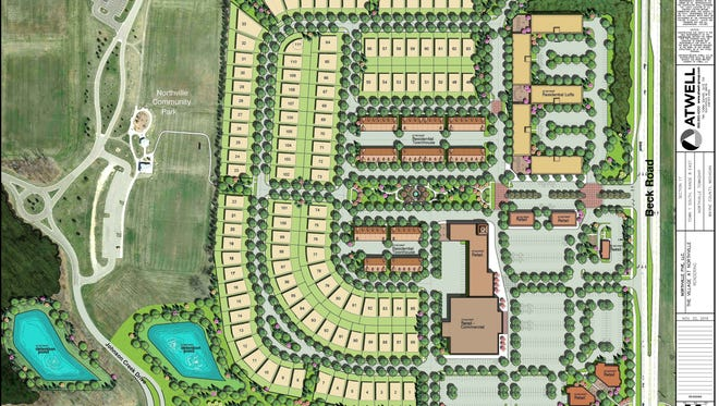 A conceptual plan for the Village at Northville.